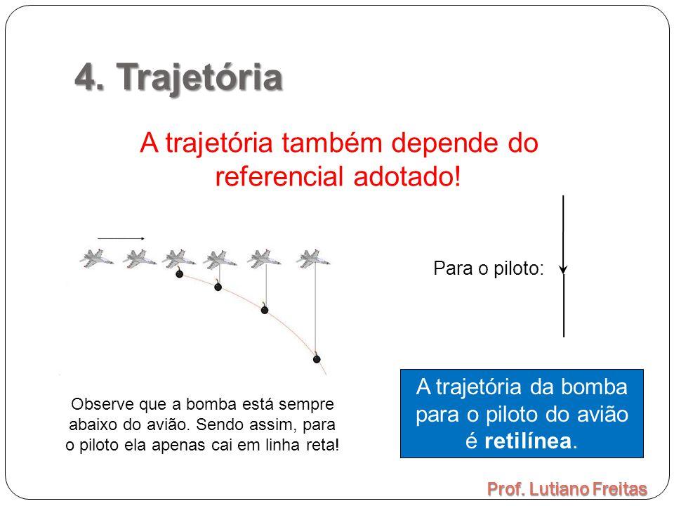 4. Trajetória A trajetória também depende do referencial adotado!