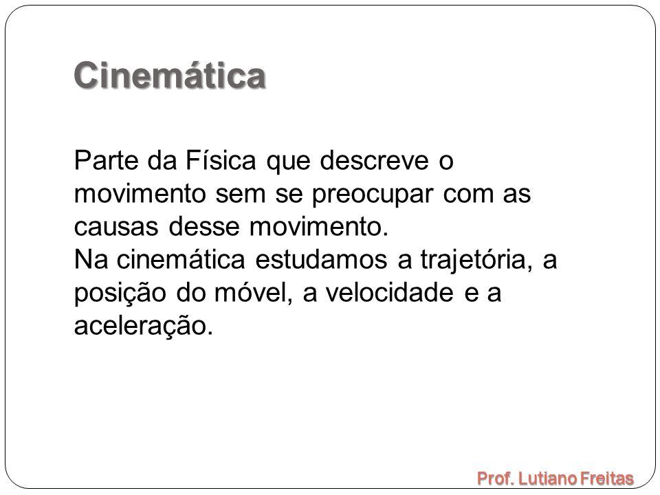 Cinemática Parte da Física que descreve o movimento sem se preocupar com as causas desse movimento.