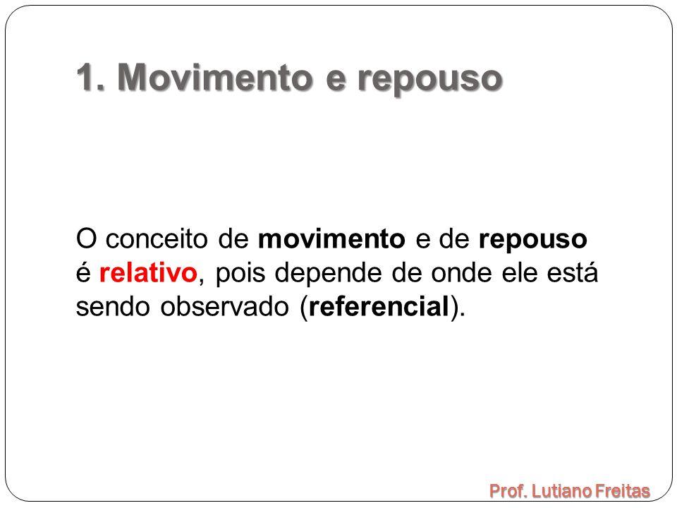 1. Movimento e repouso O conceito de movimento e de repouso é relativo, pois depende de onde ele está sendo observado (referencial).