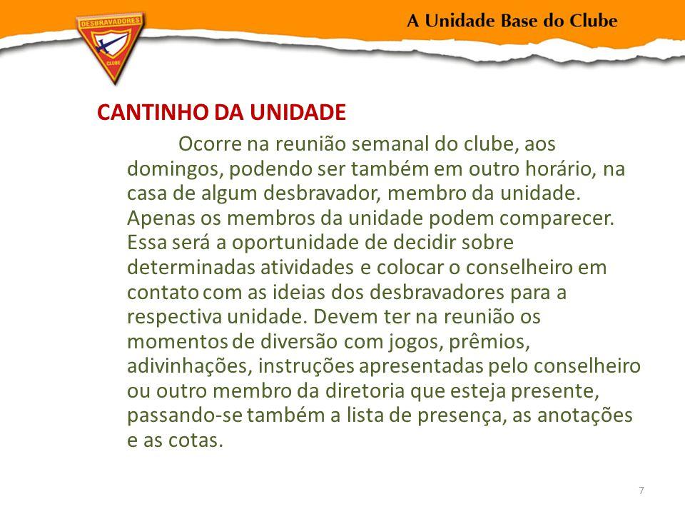 CANTINHO DA UNIDADE