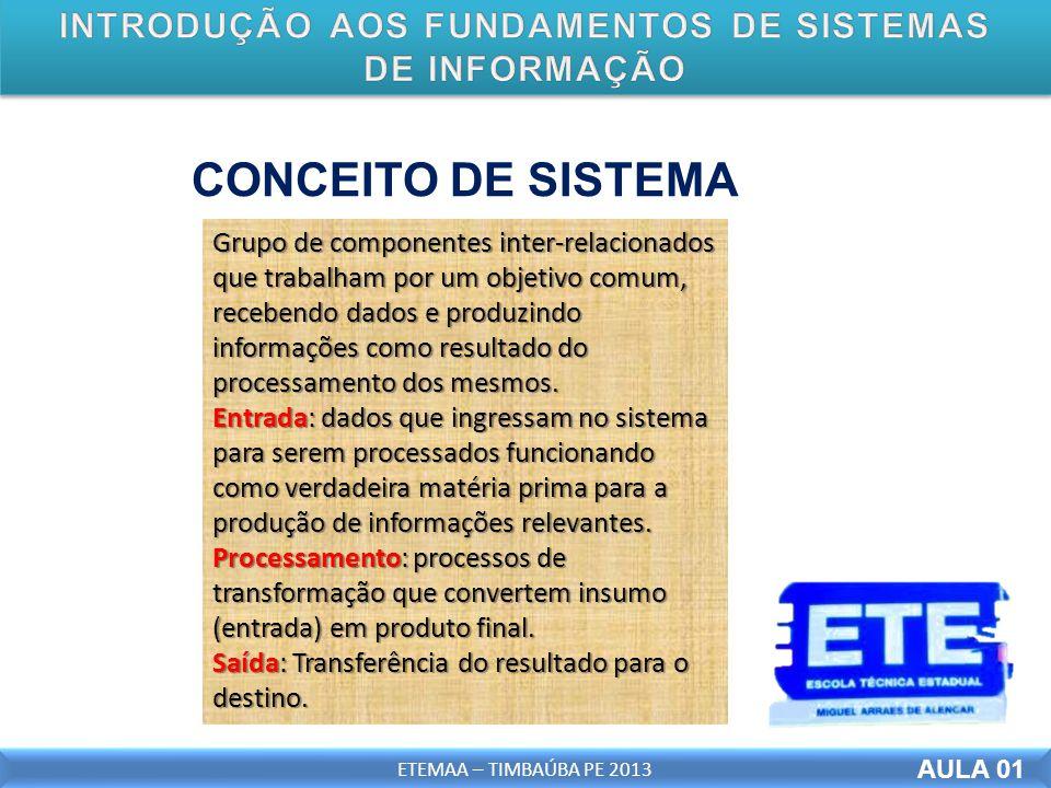 INTRODUÇÃO AOS FUNDAMENTOS DE SISTEMAS DE INFORMAÇÃO