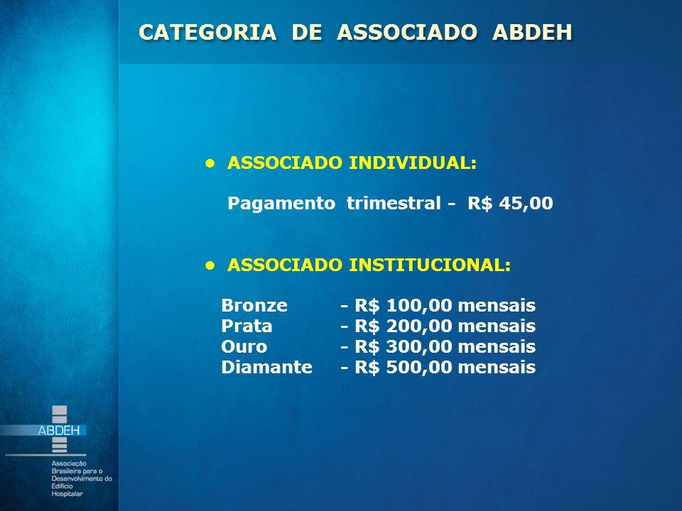 CATEGORIA DE ASSOCIADO ABDEH