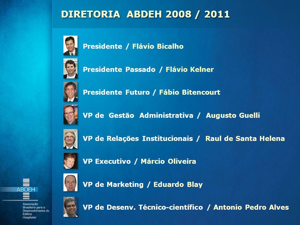 DIRETORIA ABDEH 2008 / 2011 Presidente / Flávio Bicalho