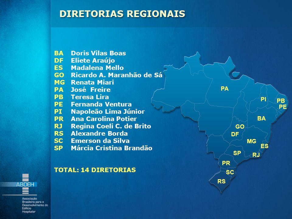DIRETORIAS REGIONAIS BA Doris Vilas Boas DF Eliete Araújo