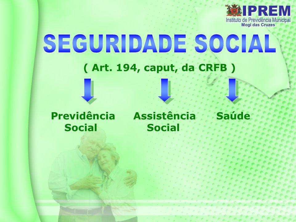 SEGURIDADE SOCIAL ( Art. 194, caput, da CRFB ) Previdência Social