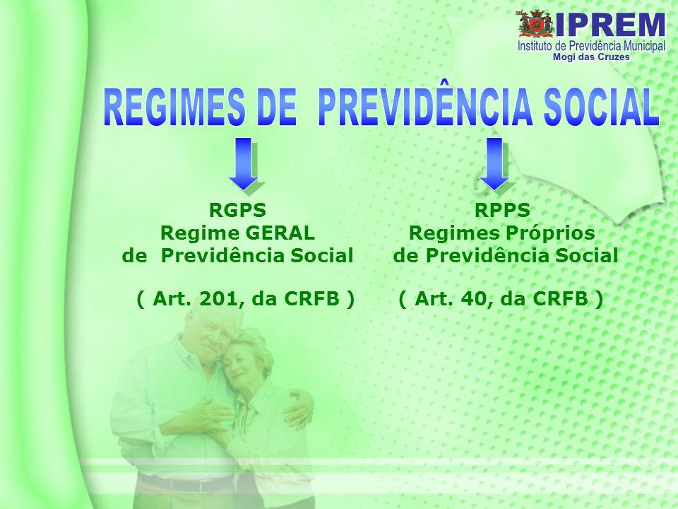 REGIMES DE PREVIDÊNCIA SOCIAL