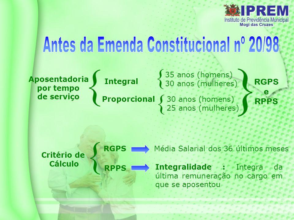Antes da Emenda Constitucional nº 20/98