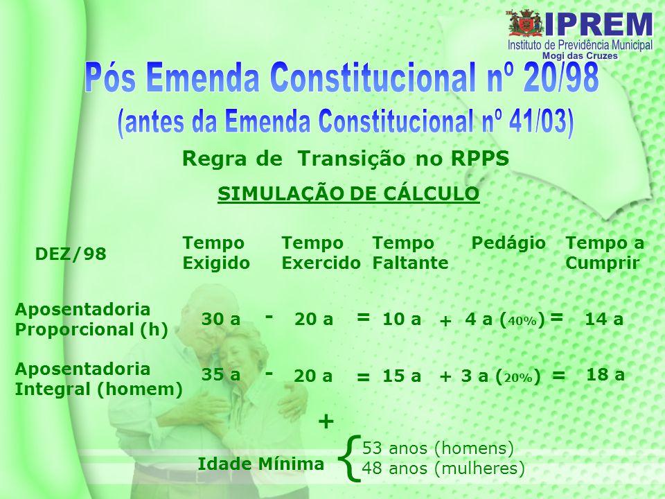 Regra de Transição no RPPS