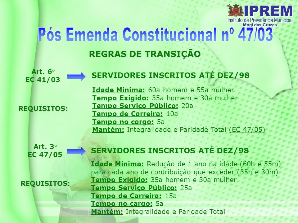 Pós Emenda Constitucional nº 47/03