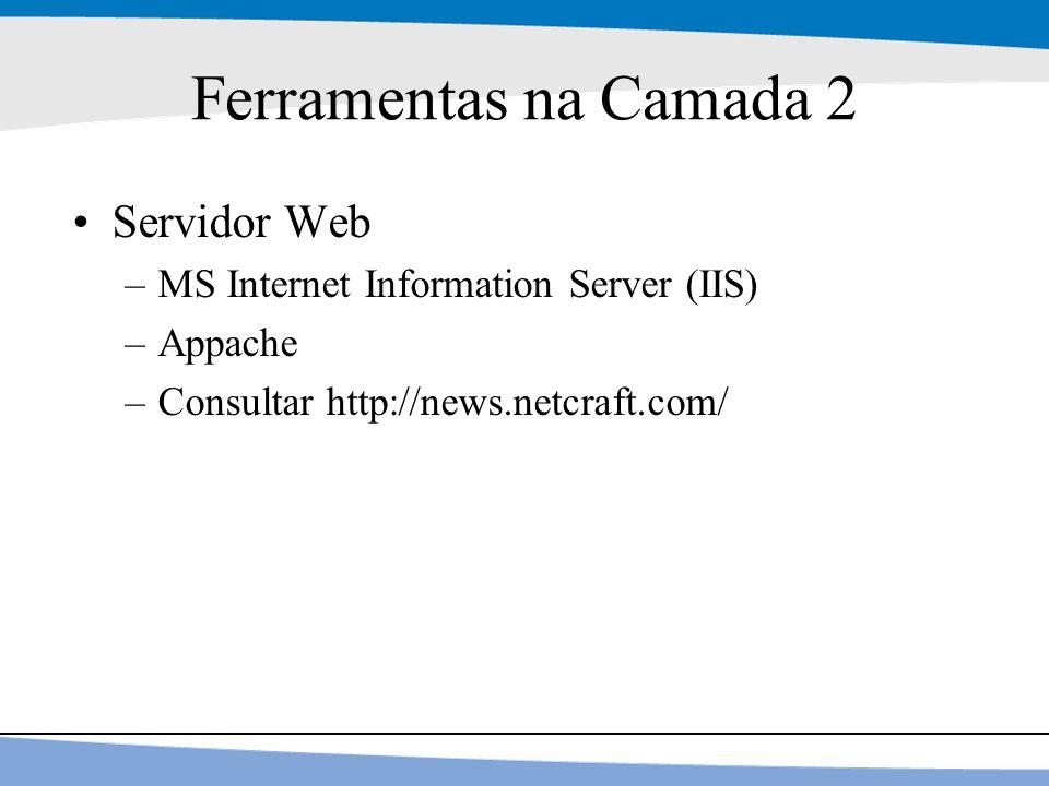 Ferramentas na Camada 2 Servidor Web