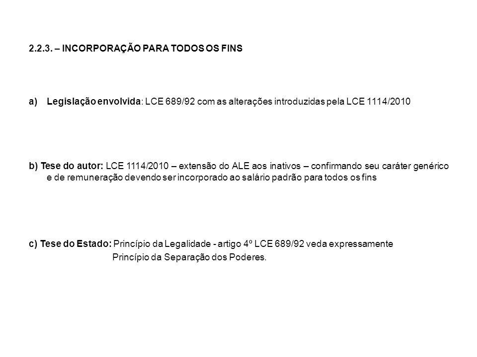 2.2.3. – INCORPORAÇÃO PARA TODOS OS FINS