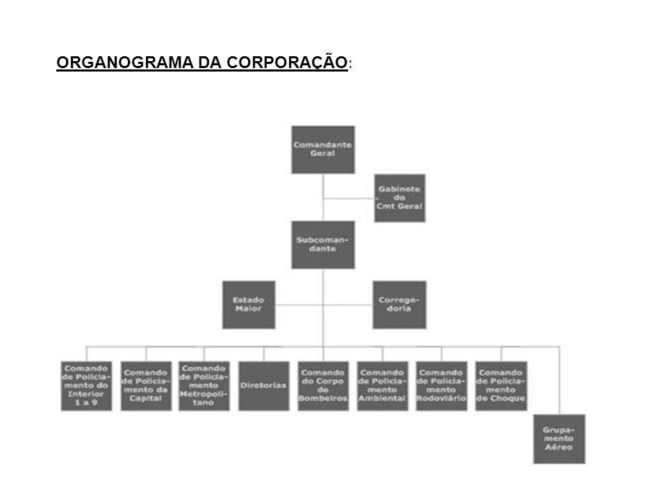 ORGANOGRAMA DA CORPORAÇÃO: