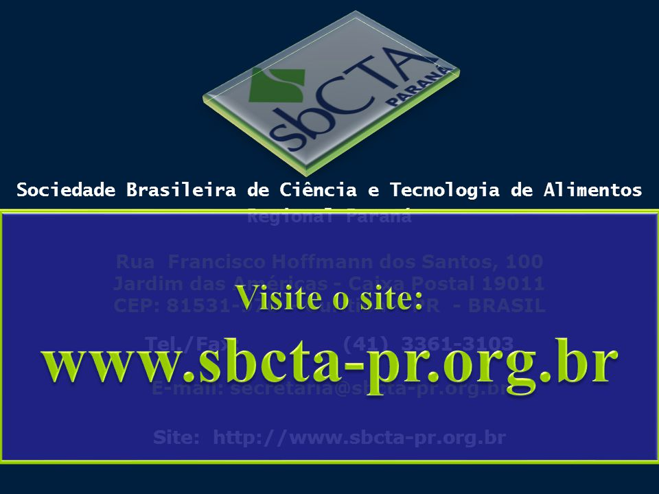 www.sbcta-pr.org.br Visite o site: