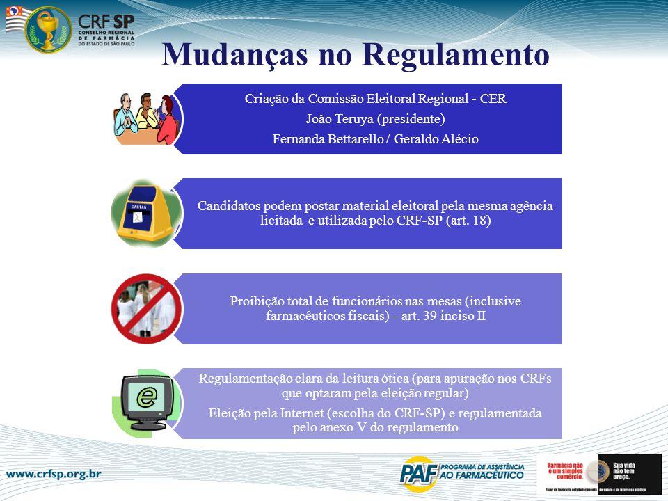 Mudanças no Regulamento