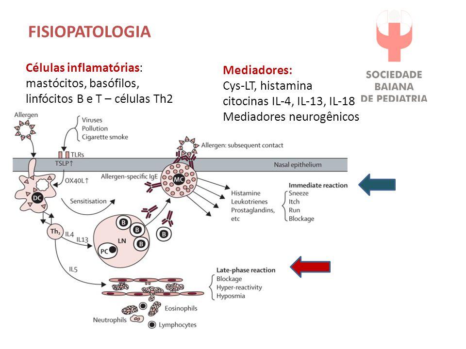 FISIOPATOLOGIA Células inflamatórias: Mediadores:
