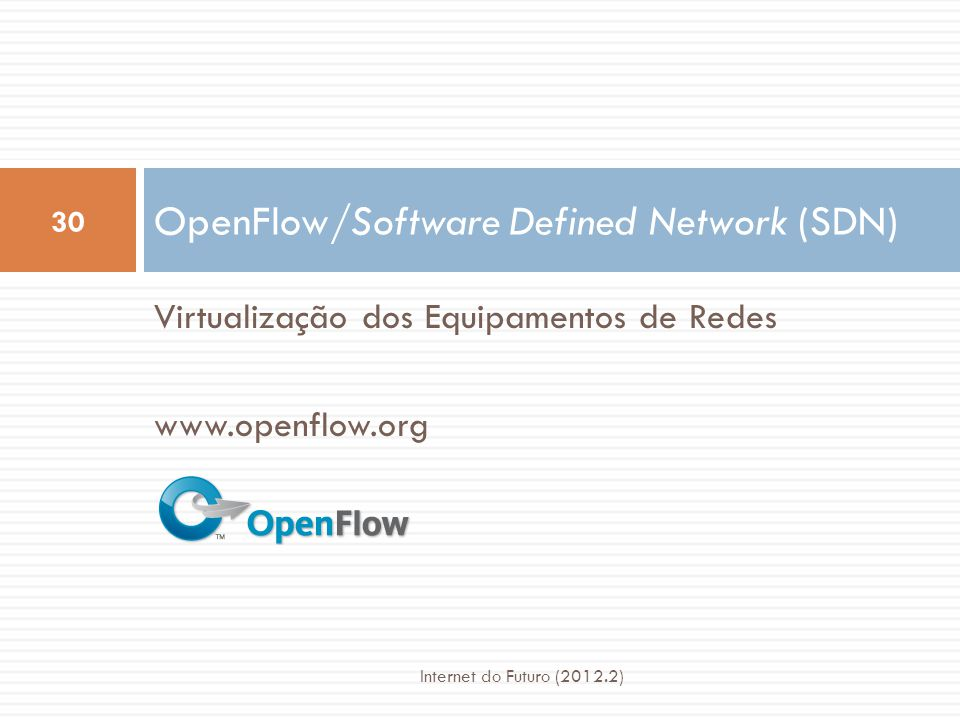 OpenFlow/Software Defined Network (SDN)