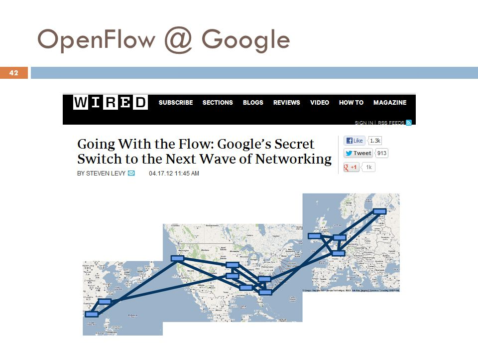 OpenFlow @ Google Internet do Futuro (2012.2)