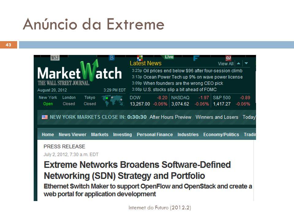 Anúncio da Extreme Internet do Futuro (2012.2)