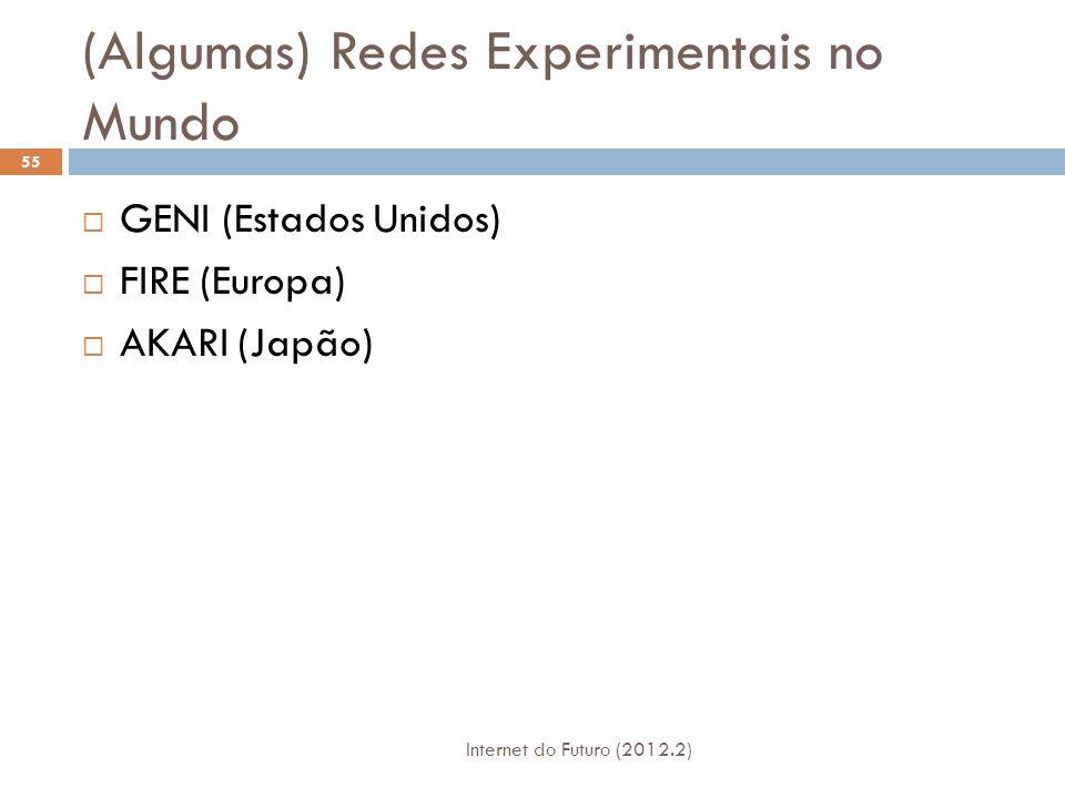(Algumas) Redes Experimentais no Mundo