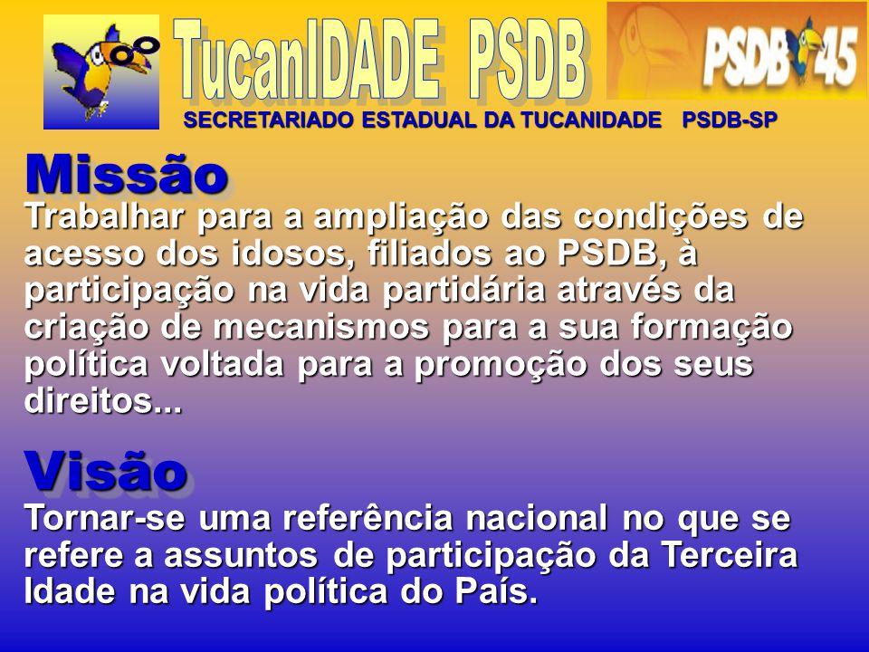 TucanIDADE PSDB SECRETARIADO ESTADUAL DA TUCANIDADE PSDB-SP. Missão.