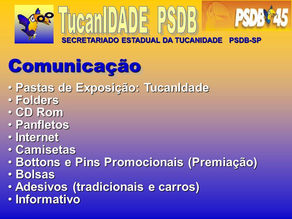 Comunicação Pastas de Exposição: TucanIdade Folders CD Rom Panfletos
