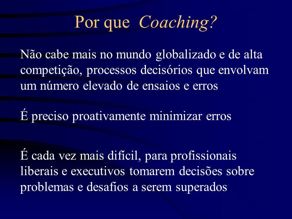 Por que Coaching Não cabe mais no mundo globalizado e de alta competição, processos decisórios que envolvam um número elevado de ensaios e erros.