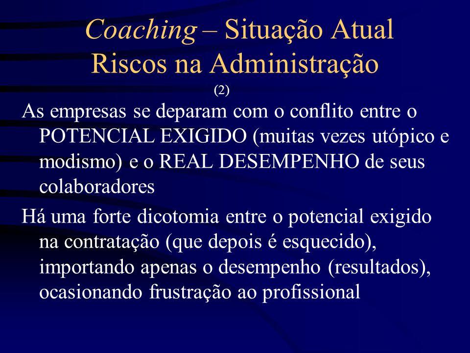 Coaching – Situação Atual Riscos na Administração