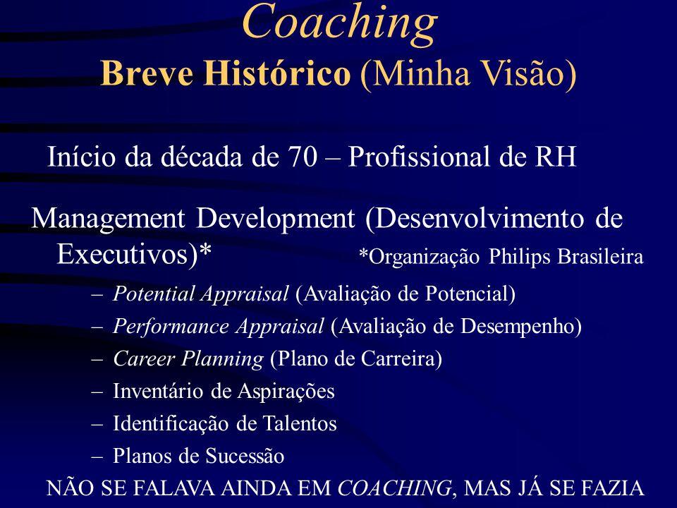 Coaching Breve Histórico (Minha Visão)