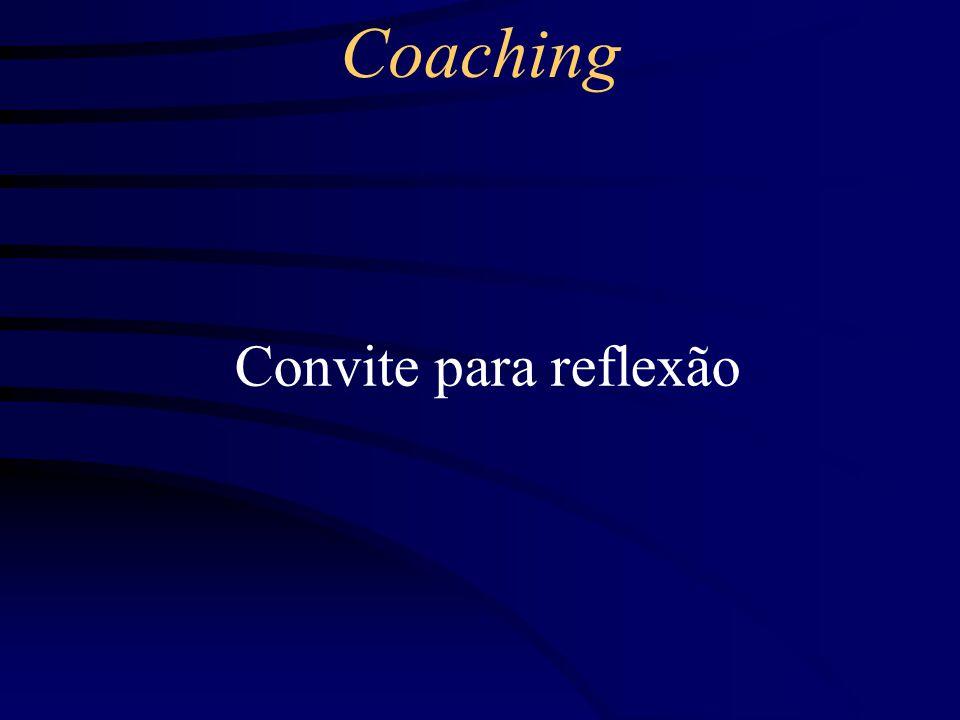 Coaching Convite para reflexão