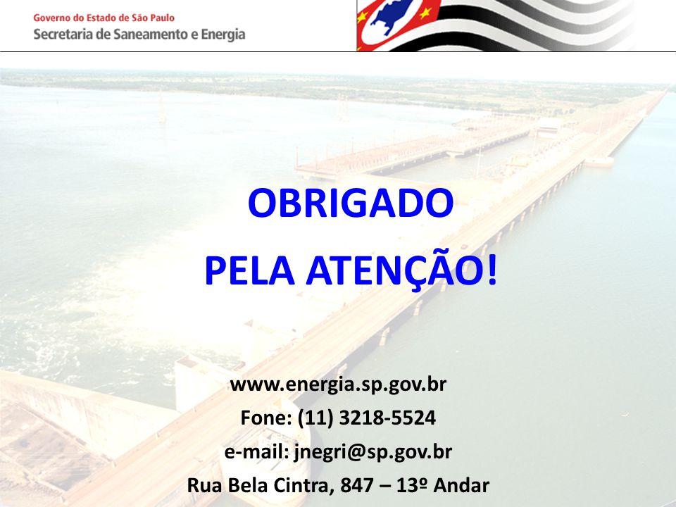 e-mail: jnegri@sp.gov.br Rua Bela Cintra, 847 – 13º Andar