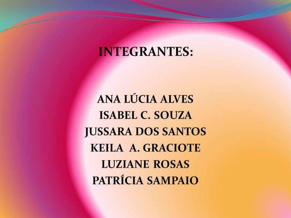 INTEGRANTES: ANA LÚCIA ALVES ISABEL C. SOUZA JUSSARA DOS SANTOS