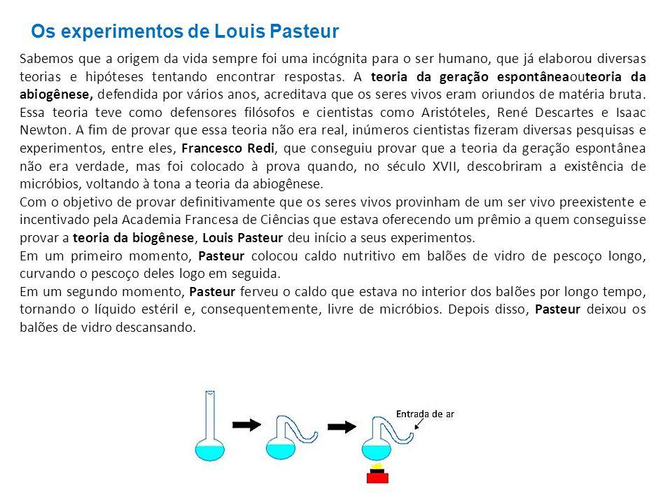Os experimentos de Louis Pasteur