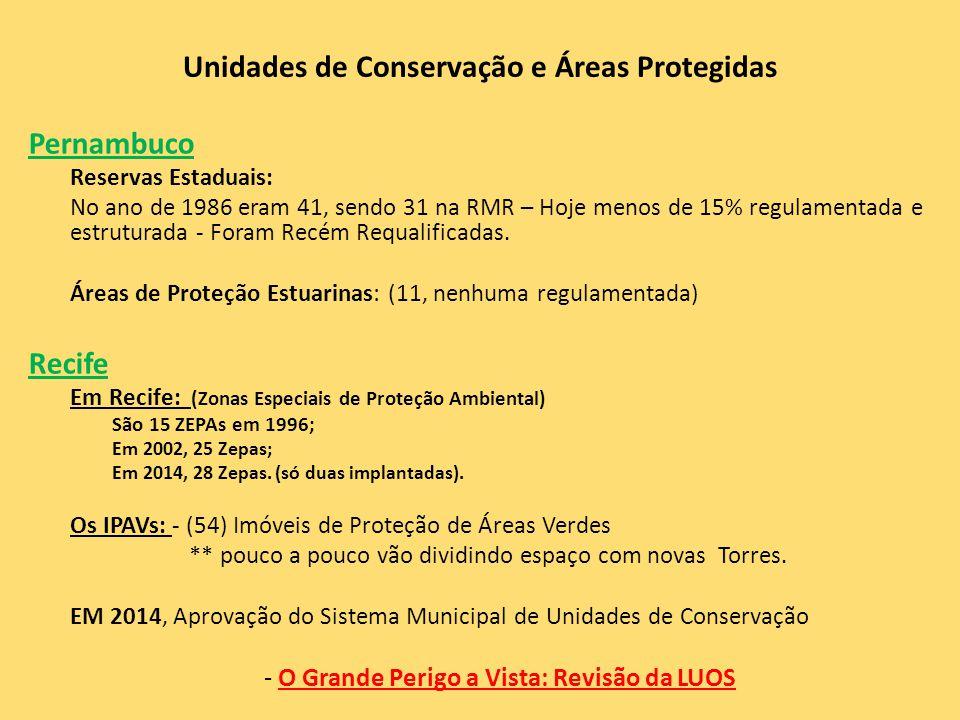 Unidades de Conservação e Áreas Protegidas