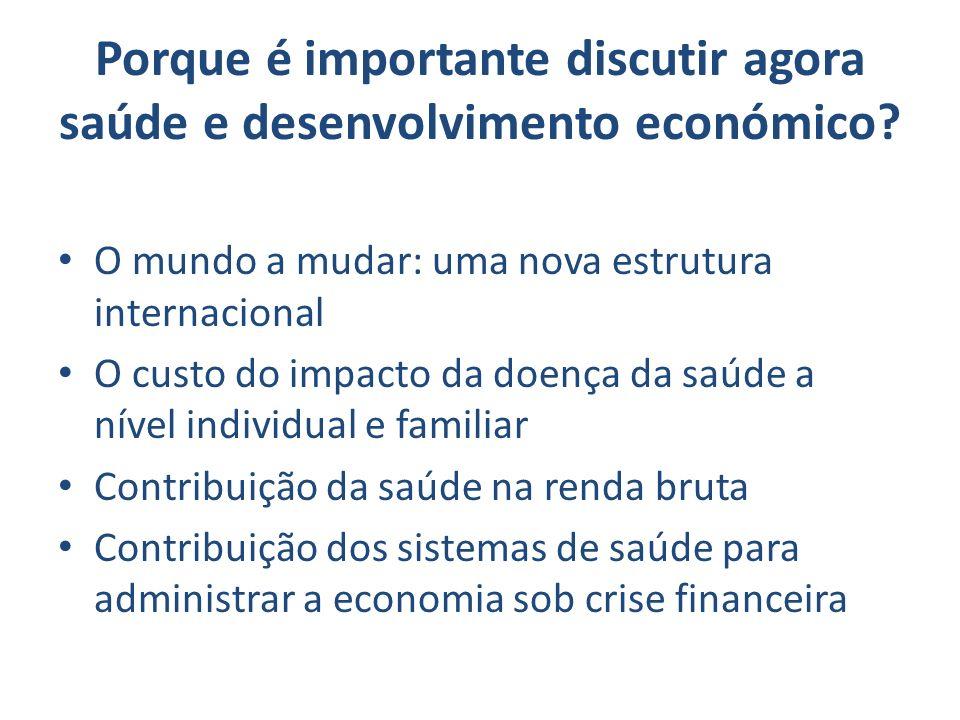 Porque é importante discutir agora saúde e desenvolvimento económico
