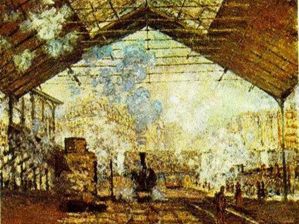 Claude Monet: La gare Saint-Lazare , 1877, olio su tela cm
