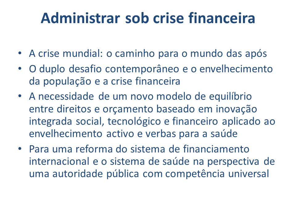 Administrar sob crise financeira