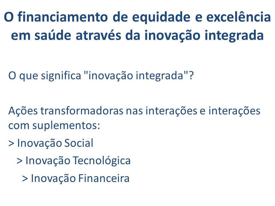 O financiamento de equidade e excelência em saúde através da inovação integrada