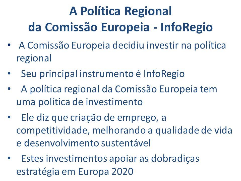 A Política Regional da Comissão Europeia - InfoRegio