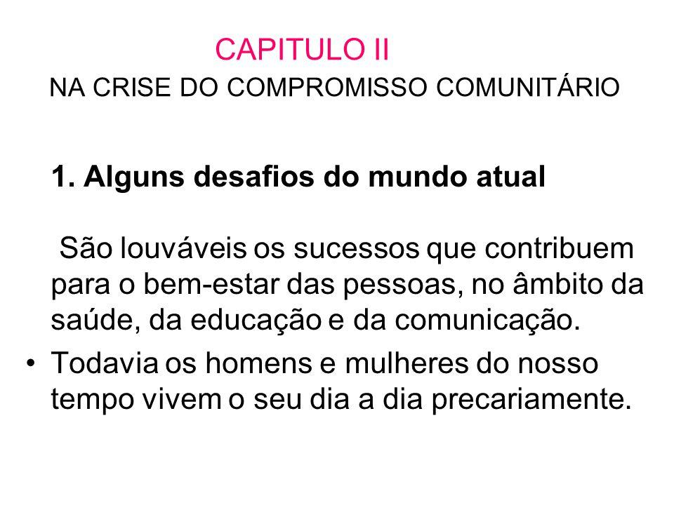 CAPITULO II NA CRISE DO COMPROMISSO COMUNITÁRIO