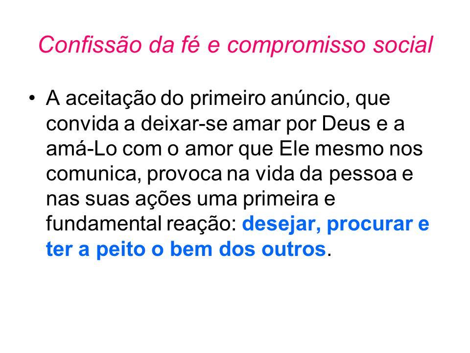 Confissão da fé e compromisso social