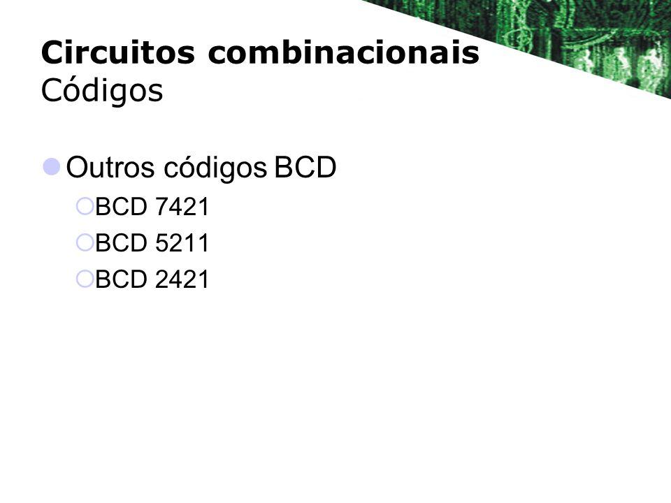 Circuitos combinacionais Códigos