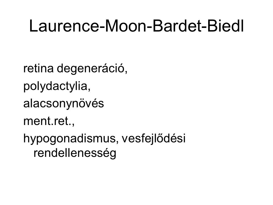 Laurence-Moon-Bardet-Biedl
