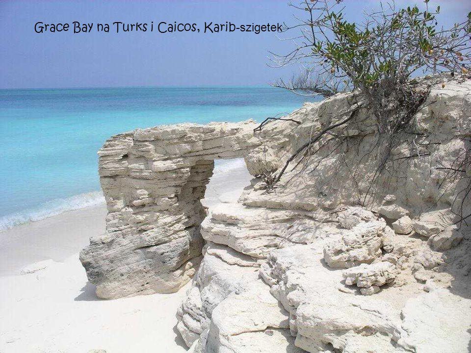 Grace Bay na Turks i Caicos, Karib-szigetek