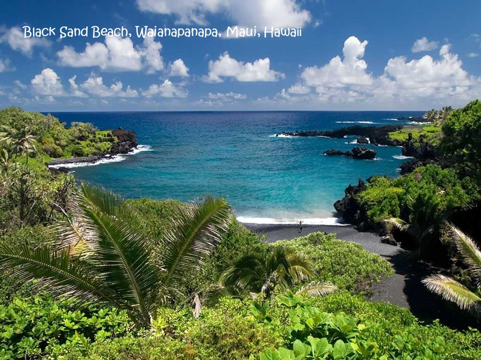 Black Sand Beach, Waianapanapa, Maui, Hawaii