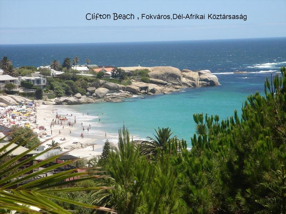 Clifton Beach , Fokváros,Dél-Afrikai Köztársaság