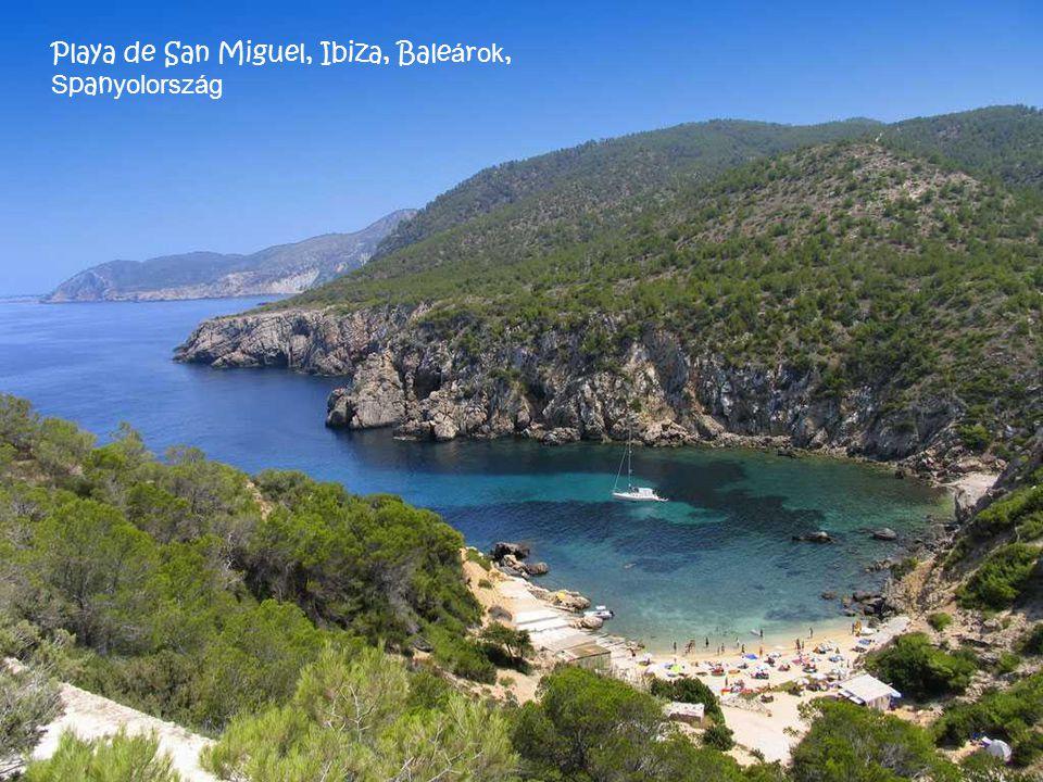 Playa de San Miguel, Ibiza, Baleárok, Spanyolország