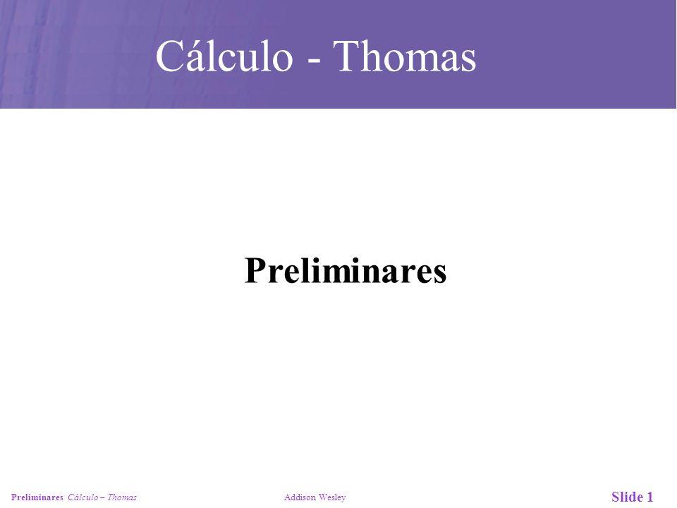Cálculo - Thomas Preliminares