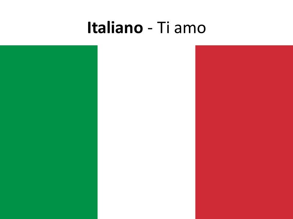 Italiano - Ti amo