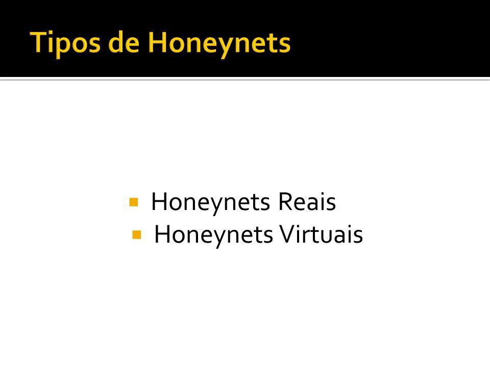 Tipos de Honeynets Honeynets Reais Honeynets Virtuais