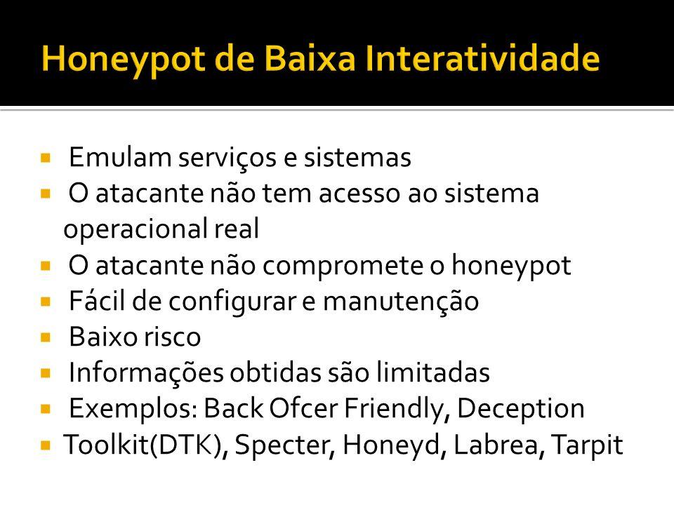 Honeypot de Baixa Interatividade